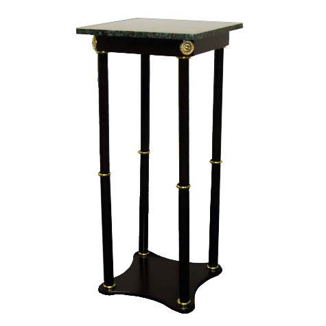Hongville Cherry Wood Base Marble Top Stand,  28