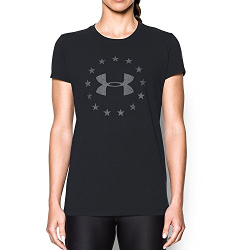 Under Armour Womens W's Freedom Logo 2.0,Black (001)/Graphite, - Logo Womens S/s Tee