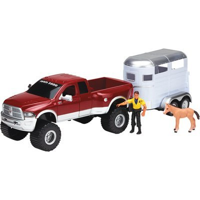 Tree House Kids Ram with Truck Horse Trailer Playset, Red, 23.5