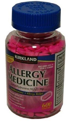Diphenhydramine HCI 25 Mg - Kirkland Brand - Allergy Medicine and AntihistamineCompare to Active Ingredient of Benadryl® Allergy Generic - 600 Count