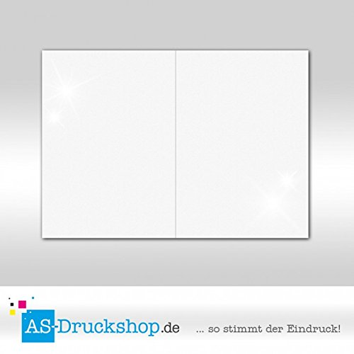 Faltkarte Doppelkarte Doppelkarte Doppelkarte - Weiss - mit Perlmutt-Glanz 100 Stück DIN B6 B0794ZG3XV   Queensland  ead099