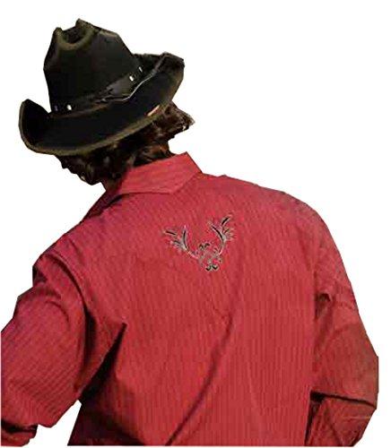 Stars & Stripes Streifenhemd Clyde - Westernwear-Shop Edition mit Kragenecken und Aufbewahrungsbeutel - Herren Westernhemd Westernkleidung