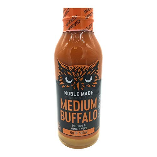 - The New Primal, Dipping Wing Sauce Medium Buffalo, 12 Ounce