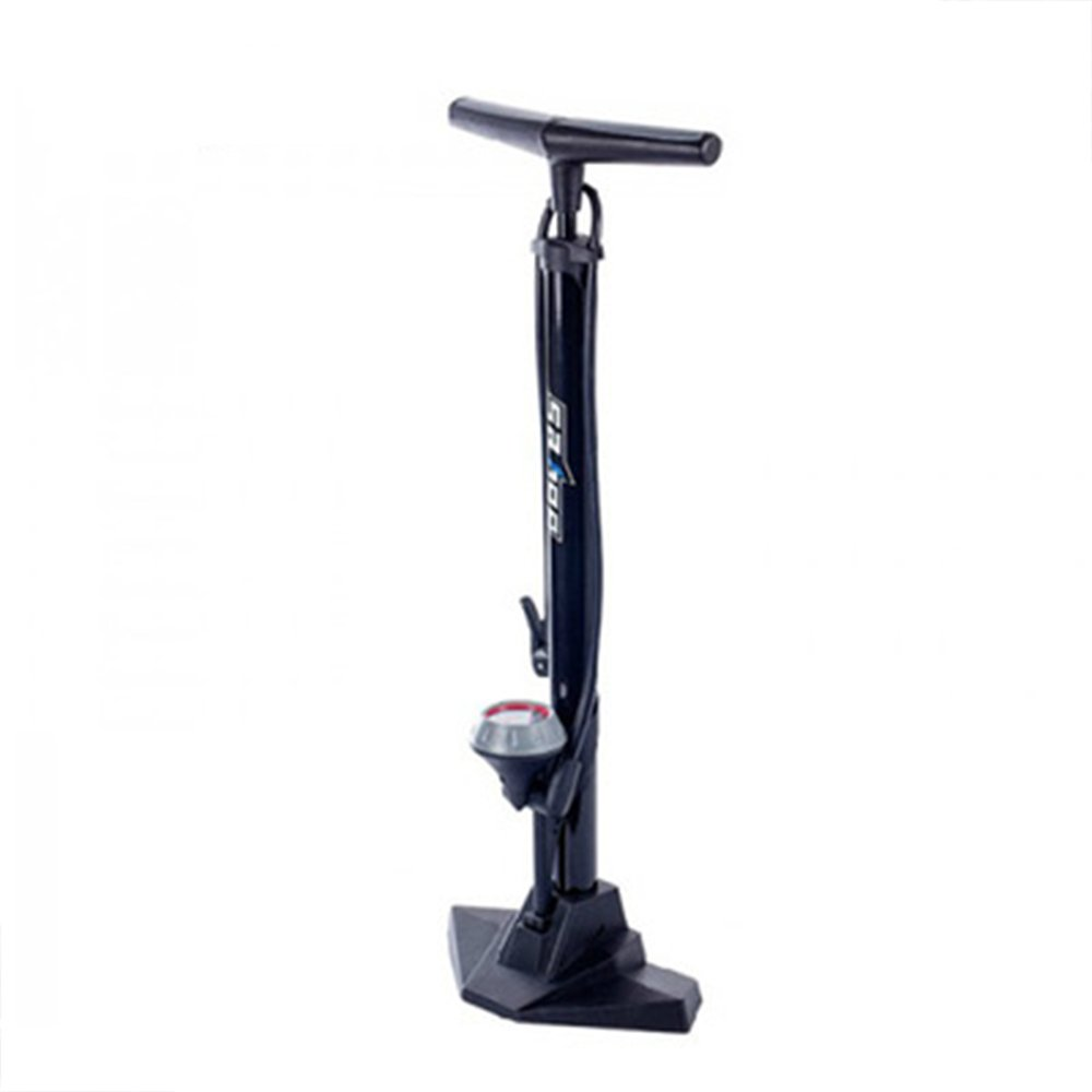 Bike Floor Pump with Gauge & Smart Valve Head - Accurate Inflation - Mini Bicycle Tire Pump for Road, Mountain Bikes
