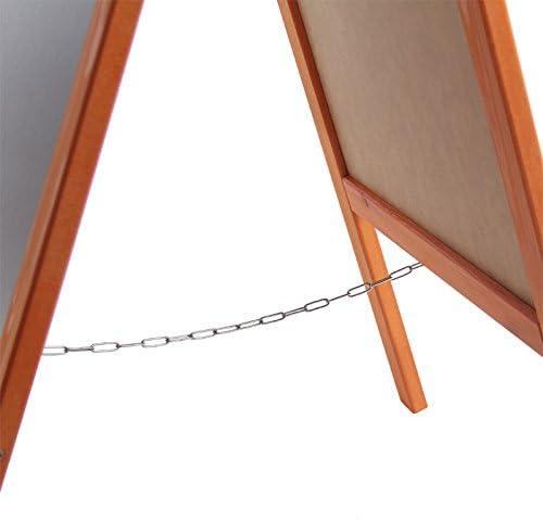 Dunkelbraun toys4u Kundenstopper 117 cm Holz Tafel Aufsteller Werbetafel Holztafel Werbeaufsteller