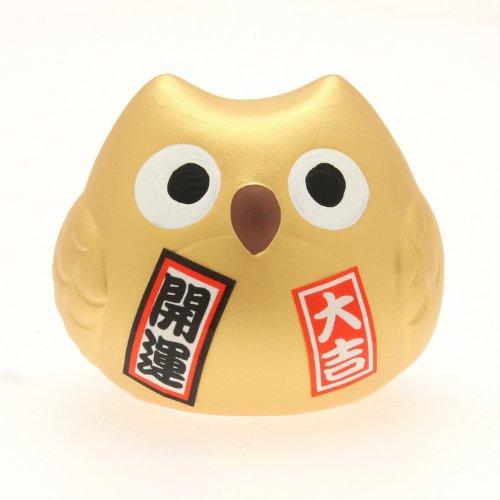 Kotobuki Fukuro Owl Charm Kai-un Collectible Figurine, Fortune, - Owl Lucky