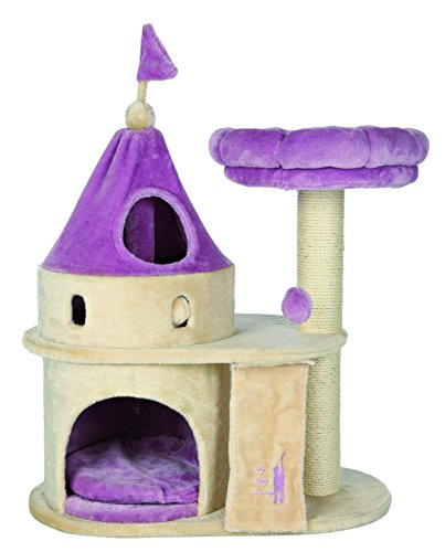 Purple Cat Bed - Trixie Pet Products My Kitty Darling Castle