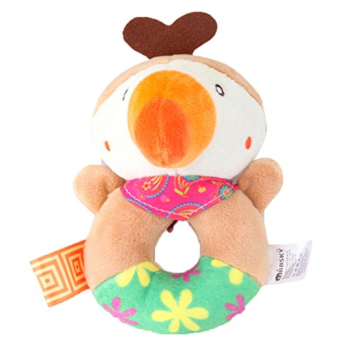 Gbell Baby Grasping Rattles Toys- Soft Plush Animal Toys Dev