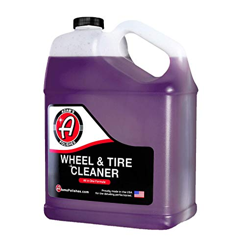 Adam's Wheel & Tire Cleaner - A Unique Chemical Formula That Combines Our Wheel Cleaner & Tire & Rubber Into an All in One Formula - Works On Alloy Chrome Aluminum Clear-Coated Painted Rims (Gallon)