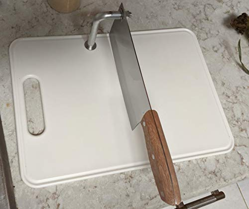 Cutting Board w/Cleaver for Boned Meats Chopping Hard Vegetables and Slices Fruits Dices Onions (Best Knife For Cutting Hard Vegetables)