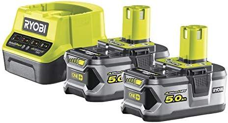 Ryobi 5133003364 - Pack cargador 1 h + 2 baterías litio-ion 18v 5,0 ah: Amazon.es: Bricolaje y herramientas