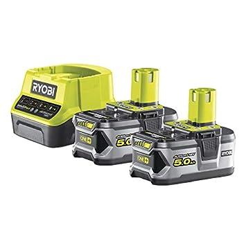 Ryobi 5133003364 - Pack cargador 1 h + 2 baterías litio-ion 18v 5,0 ah