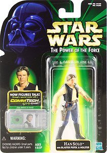 Star Wars Power Of The Force Comtech Han Solo Cantina version (japan import)