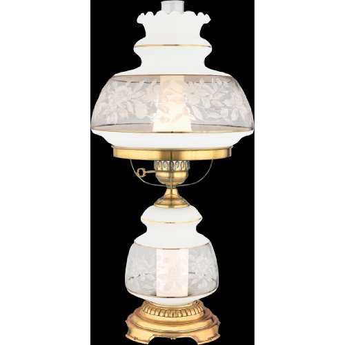 Lace Hurricane - Quoizel SL703G Satin Lace Hurricane Table Lamp Lighting, 2-Light, 14 Watt, Gold Polished Flemish (28
