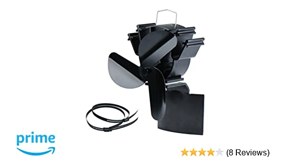 Amazon.com: New Designed Stove Pipe Fan for Incline Surface Fixed on The Chimney Pipe of Wood/Log Burner/Fireplace: Home & Kitchen