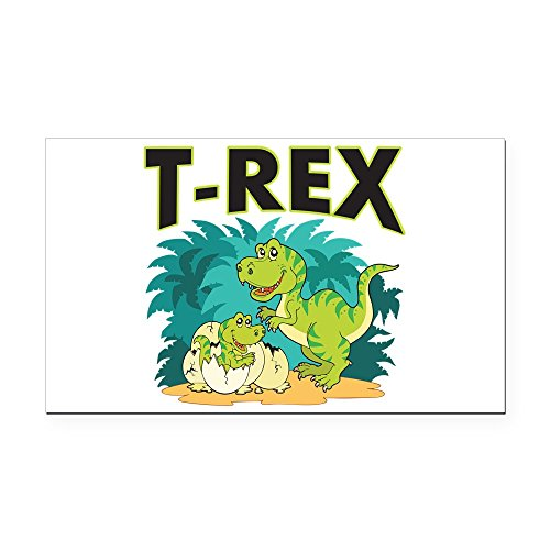 Rectangle Car Magnet Large T-Rex Dinosaur Tyrannosaurus Baby