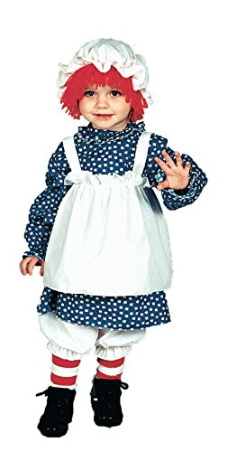 UHC Baby Doll Raggedy Ann Toddler Child Outfit Fancy Dress Halloween Costume, (Raggedy Ann Wig Baby)