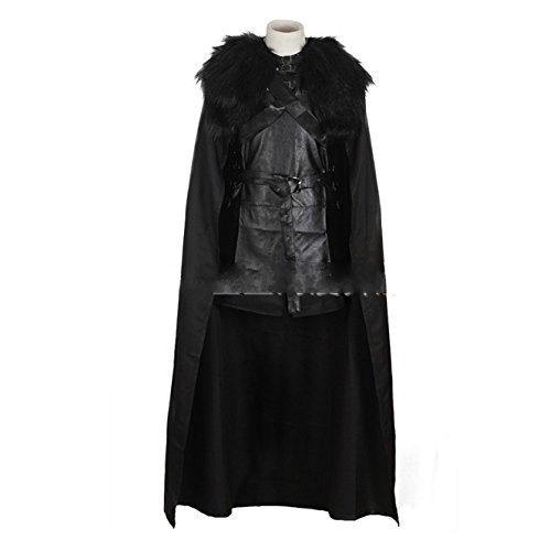 Game of Thrones Jon Snow the Night Watch Costume Halloween Party Cosplay the Song of Ice and Fire (Game Of Thrones Mens Costumes)