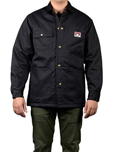 (Ben Davis Men's Original Style Jacket, with Front Snap (Black, 4X-Large) )