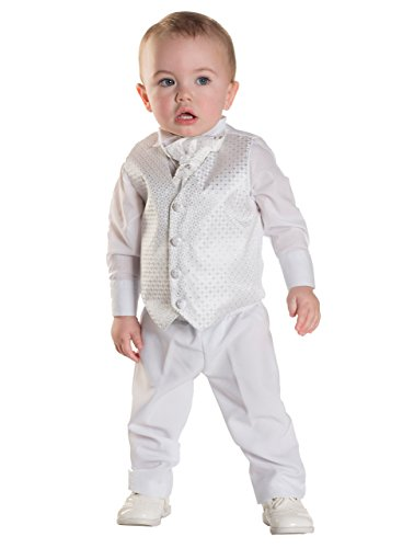 Paisley of London, Blancos para Niños Chaleco De Vestir para Bautizo, Bodas, Traje Paje Niño, Trajes Niños 3 meses a 6 años