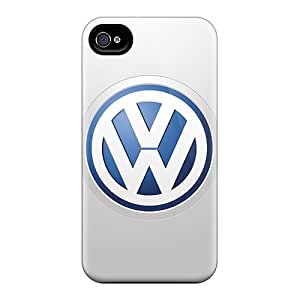 No1cases Iphone 4/4s Protective Cell-phone Hard Covers Custom HD Volkswagen Logo Skin [dXL8418tdsL]