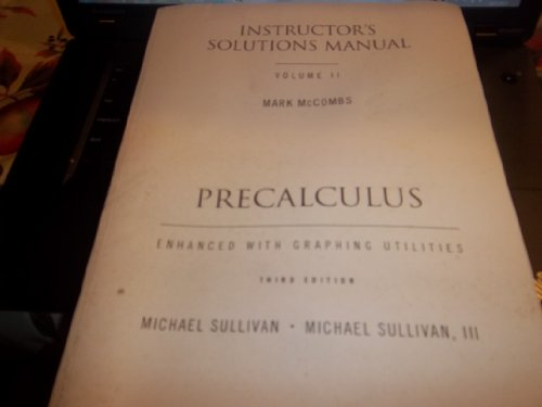 Precalculus Instructor's Solutions Manual (Volume 2)
