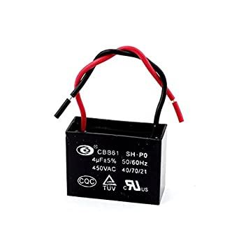 Uxcell ceiling fan capacitor cbb61 4uf 450vac 2 wire 5060hz uxcell ceiling fan capacitor cbb61 4uf 450vac 2 wire 5060hz greentooth Choice Image