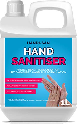 Pro-Kleen Hand Sanitizer Antibacterial Liquid 70% Alcohol Kills Bacteria & Germs 1L (1L)