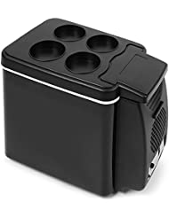 AUTOLOVER Portable Electric 12V Cooler / Warmer Car Refrigerator Personal Mini Fridge - 6L Capacity (6L)