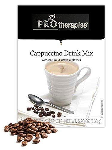 High Protein Drink Mix - Low Carb Hot Cappuccino Protein Powder Drink Mix (15g Protein) - 7 Servings/Pack - Cappuccino Drink
