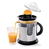 Princess 01.201975.01.001–Citrus Juicer with Capacity 1.2L, with tank for Juice Integrated and Juicer, 40W, Black and Silver