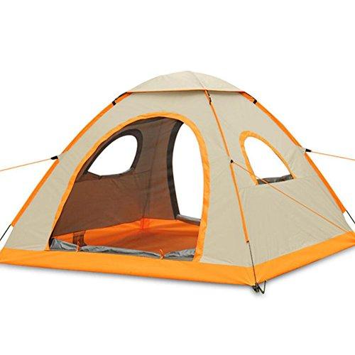 するだろう侵入外国人屋外テントポータブル折りたたみ防水屋外テント登山ドーム耐久キャンプ3-4人キャンプテント