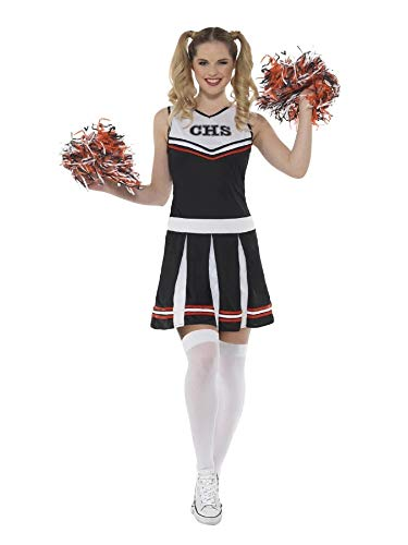 Broncos Cheerleader Halloween Costumes - Smiffys White and Black Cheerleader Small