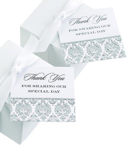 Hortense B. Hewitt Wedding Accessories Damask Favor Cards, 25 (Damask Favor Cards)