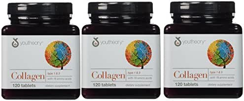 YouTheory Collagen, Type 1 & 3, 120 tablets (Pack of 3)