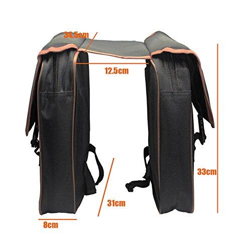 Fahrradträger-Tasche Gepäckträger Fahrrad-Trunk Bag Gepäck Pannier Zurück Double Side Fahrrad-Beutel-Sitz
