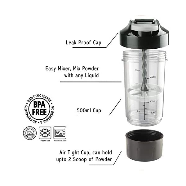 Haans Cyclone Protein Shaker Bottle for Gym 500ml 2021 July HAANS are only authorized seller of this product, others are fake suppliers. 100% Leak Proof. Advanced Anti Leak Technology Products contains pumping handle for eliminating proper mixing.