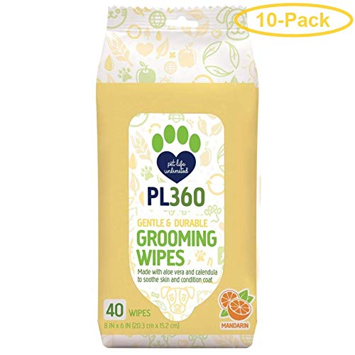 PL360 Grooming Wipes 40 Count - Pack of 10