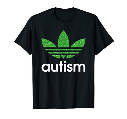 Adida Autism Awareness Green Graphic TShirt For Mens Womens -