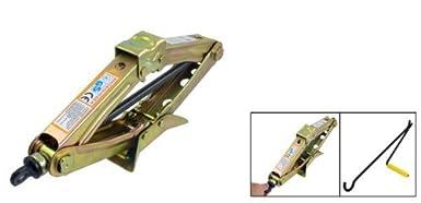2205 lbs de carga de latón Metal tono tijera Jack W Mango: Amazon.com: Industrial & Scientific