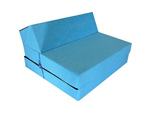 Natalia Spzoo Materasso futon pieghevole lunghezza 160 cm in diversi colori - Blu