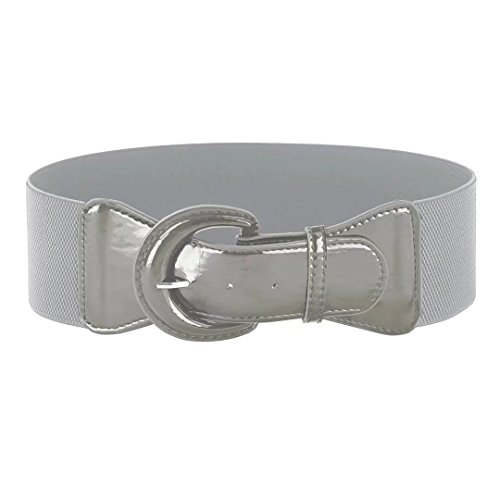 Gray Stretchy Belts for Women Adjustable Waist Band (M,Gray 469-5)