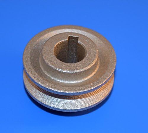 Polea de máquina industrial de 45 mm con eje de 15 mm: Amazon.es ...