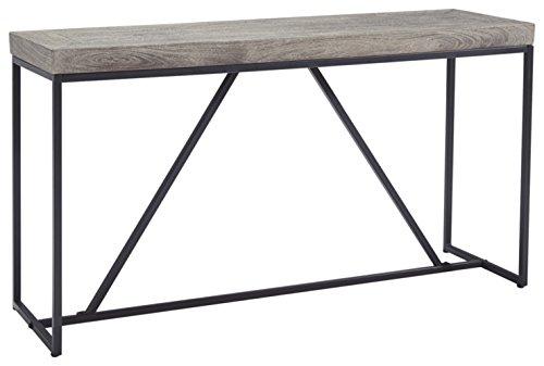 Ashley Furniture Signature Design - Brazin Casual Sofa or Console Table - Gray