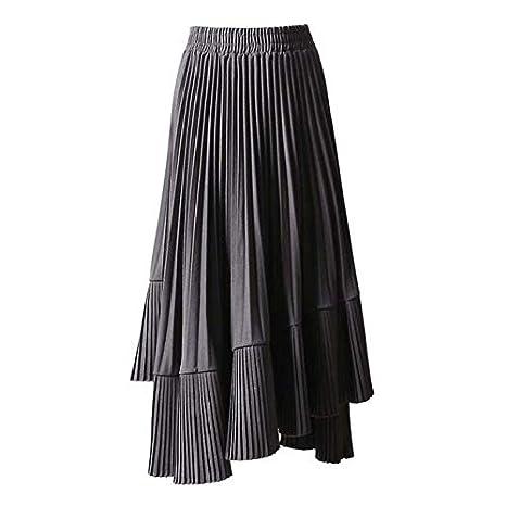 QYYDBSQ Primavera Falda Coreana para Las Mujeres de Cintura Alta ...