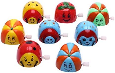Amosfun 時計仕掛けのカブトムシおもちゃ漫画巻き上げおもちゃチェーンチップおもちゃ動物巻き上げおもちゃ誕生日ギフト用キッズ8ピース