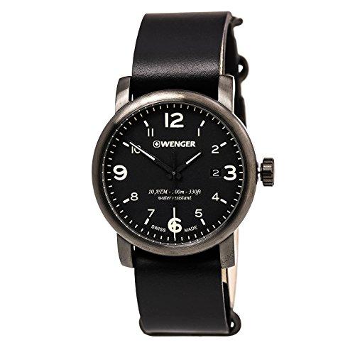 Urban Hipster Mens Analog Swiss Quartz Watch with Leather Bracelet 01.1041.135