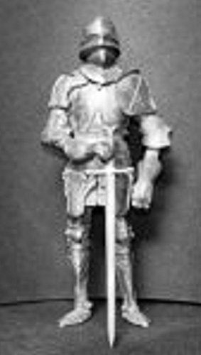 Melody Jane Dollhouse Knight in Medeival Armour Kit Miniature 1:12 Accessory by Melody