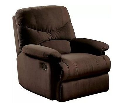 Contemporary Plush recliner, Chocolate by ,,,,