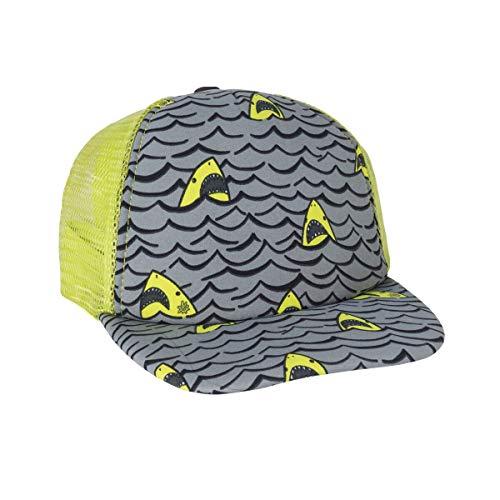 - UV SKINZ UPF 50+ Boys H2O Snap Back Hat (Lime Punch Shark Wave)
